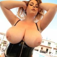 Holly Garner Vinyl Corset